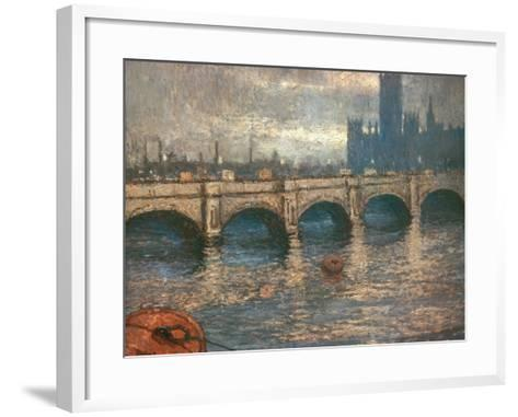 Westminster Bridge and the Houses of Parliament in London, 1900-04-Claude Monet-Framed Art Print
