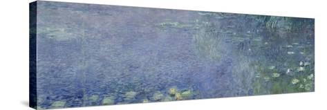 Left Centre Piece of the Large Water Lily Painting in the Mus?e De L'Orangerie-Claude Monet-Stretched Canvas Print