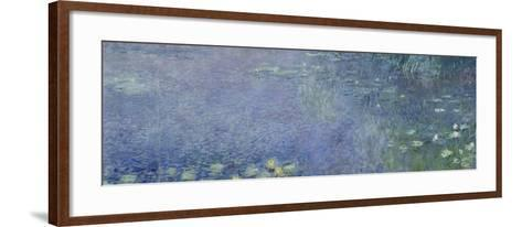 Left Centre Piece of the Large Water Lily Painting in the Mus?e De L'Orangerie-Claude Monet-Framed Art Print