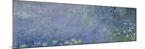 Left Centre Piece of the Large Water Lily Painting in the Mus?e De L'Orangerie-Claude Monet-Mounted Giclee Print