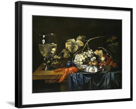 Stilleben Mit Hummer, Roemer, Muscheln Und Fruechten-Cornelis de Bryer-Framed Art Print