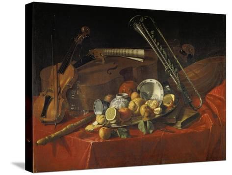 Stillleben Mit Musik-Instrumenten-Cristoforo Munari-Stretched Canvas Print