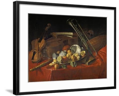Stillleben Mit Musik-Instrumenten-Cristoforo Munari-Framed Art Print