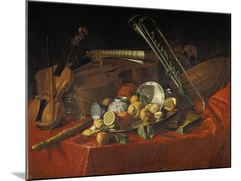 Stillleben Mit Musik-Instrumenten-Cristoforo Munari-Mounted Giclee Print