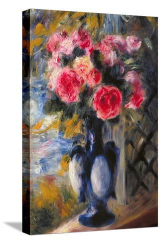 Bouquet of Roses in Blue Vase 1892-Pierre-Auguste Renoir-Stretched Canvas Print