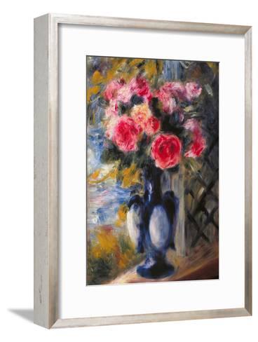 Bouquet of Roses in Blue Vase 1892-Pierre-Auguste Renoir-Framed Art Print