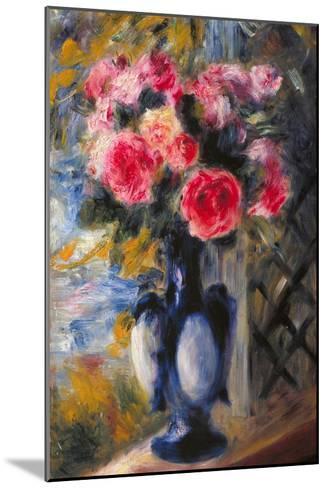 Bouquet of Roses in Blue Vase 1892-Pierre-Auguste Renoir-Mounted Giclee Print