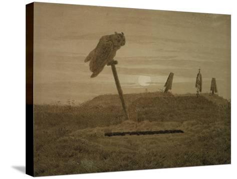 Offenes Grab, Griseille-Caspar David Friedrich-Stretched Canvas Print