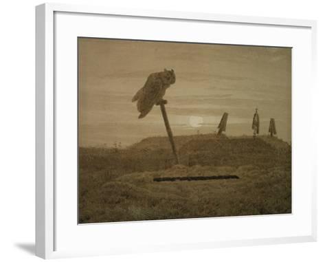 Offenes Grab, Griseille-Caspar David Friedrich-Framed Art Print