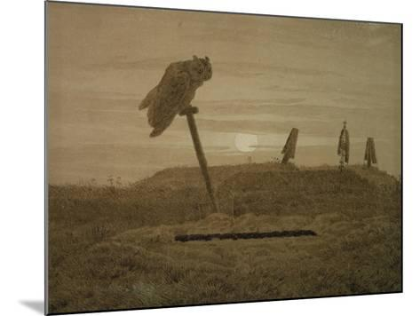 Offenes Grab, Griseille-Caspar David Friedrich-Mounted Giclee Print