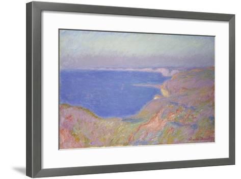 Setting Sun at Dieppe, 1897-Claude Monet-Framed Art Print