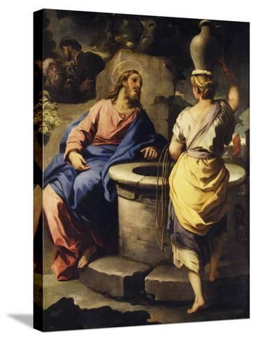Christ and the Samaritan Woman at the Well, C. 1697-Luca Giordano-Stretched Canvas Print