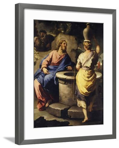 Christ and the Samaritan Woman at the Well, C. 1697-Luca Giordano-Framed Art Print