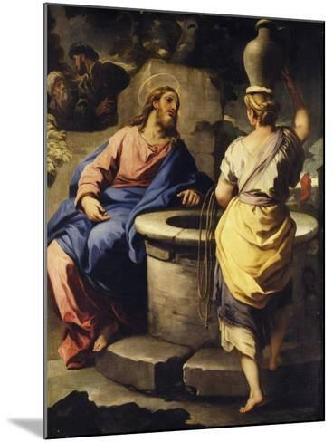 Christ and the Samaritan Woman at the Well, C. 1697-Luca Giordano-Mounted Giclee Print