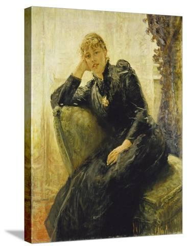 Portrait of a Young Woman-Fritz von Uhde-Stretched Canvas Print