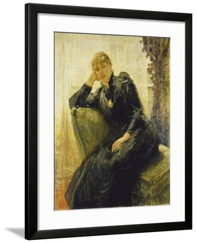 Portrait of a Young Woman-Fritz von Uhde-Framed Art Print