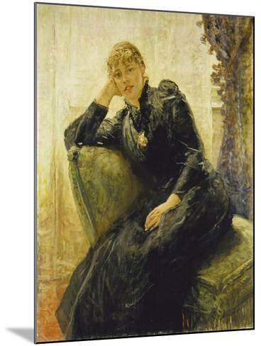 Portrait of a Young Woman-Fritz von Uhde-Mounted Giclee Print