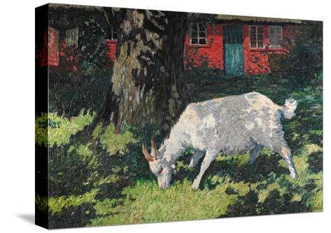 Goat in the Garden, C. 1903-5-Hans Am Ende-Stretched Canvas Print