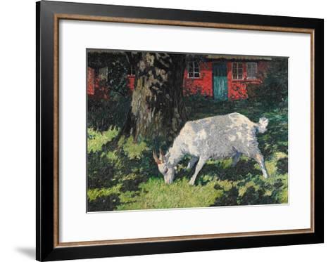 Goat in the Garden, C. 1903-5-Hans Am Ende-Framed Art Print