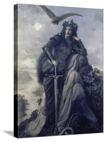 The Watch on the Rhine, 1874-Hermann Wislicenus-Stretched Canvas Print