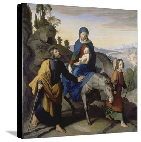 The Flight into Egypt, 1828-Julius Schnorr von Carolsfeld-Stretched Canvas Print