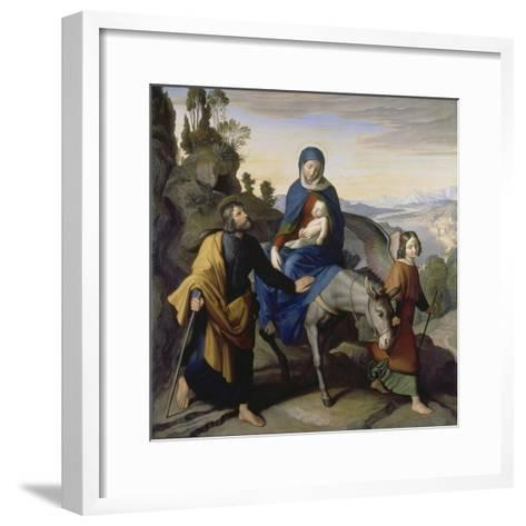 The Flight into Egypt, 1828-Julius Schnorr von Carolsfeld-Framed Art Print