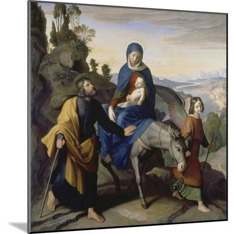 The Flight into Egypt, 1828-Julius Schnorr von Carolsfeld-Mounted Giclee Print