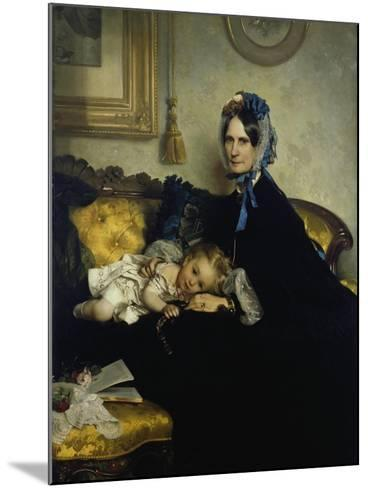 Grandmother and Grand-Daughter, 1863-Julius Scholtz-Mounted Giclee Print