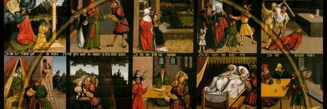 The Ten Commandments-Lucas Cranach the Elder-Stretched Canvas Print