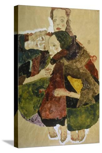 Group of Three Girls, 1911-Egon Schiele-Stretched Canvas Print