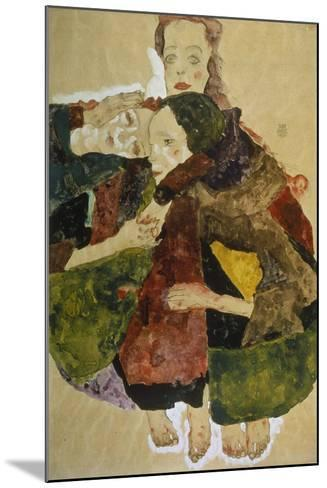 Group of Three Girls, 1911-Egon Schiele-Mounted Giclee Print