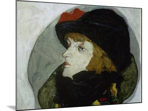 Portrait of Ida Roessler, 1912-Egon Schiele-Mounted Giclee Print