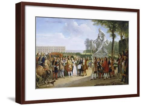 Ludwig XIV, at the Unveiling of the Sculpture Milon of Croton from P. Puget, 1814-Gabriel Lemonnier-Framed Art Print