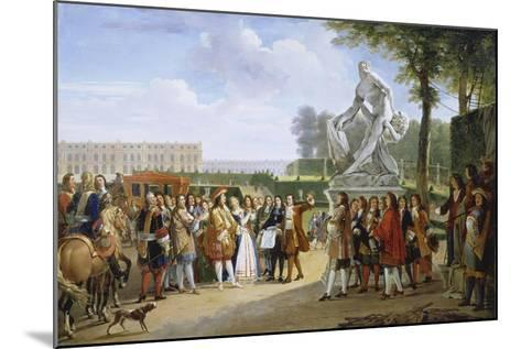 Ludwig XIV, at the Unveiling of the Sculpture Milon of Croton from P. Puget, 1814-Gabriel Lemonnier-Mounted Giclee Print