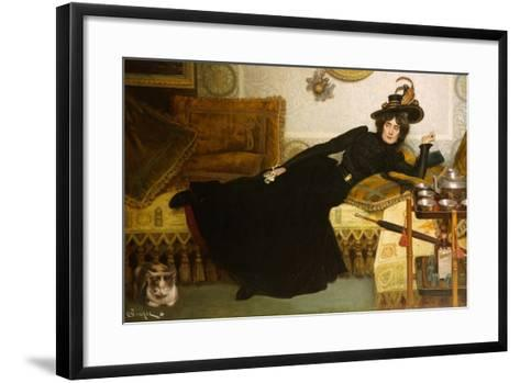 A Elegant Lady-Hippolyte-casimir Gourse-Framed Art Print