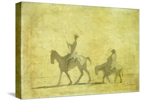Don Quixote and Sancho Pansa-Honor? Daumier-Stretched Canvas Print