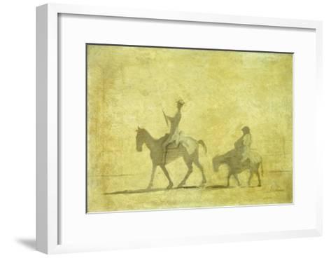 Don Quixote and Sancho Pansa-Honor? Daumier-Framed Art Print