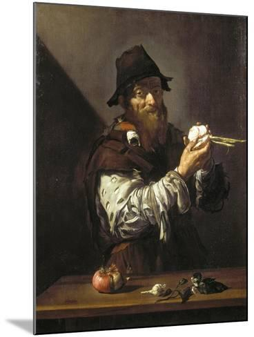 Portrait of an Old Man with an Onion-Jusepe de Ribera-Mounted Giclee Print