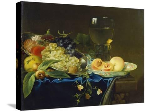 Still Life with Fruit and Rummer, 1758-Justus Juncker-Stretched Canvas Print