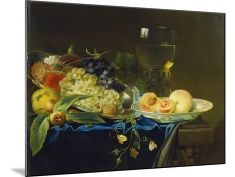 Still Life with Fruit and Rummer, 1758-Justus Juncker-Mounted Giclee Print