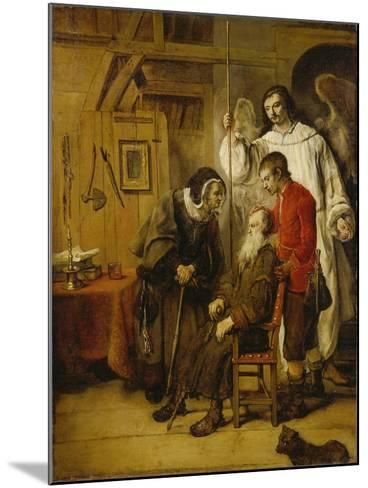 Tobias Curing His Fathers Blindness-Karel van der Pluym-Mounted Giclee Print