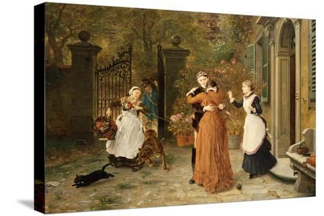 The Reunion, 1884-Ludwig Knaus-Stretched Canvas Print