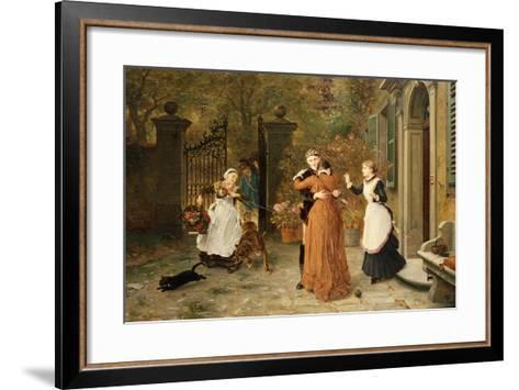 The Reunion, 1884-Ludwig Knaus-Framed Art Print