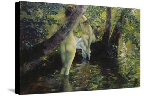 Girls Bathing-Ferdinand Max Bredt-Stretched Canvas Print