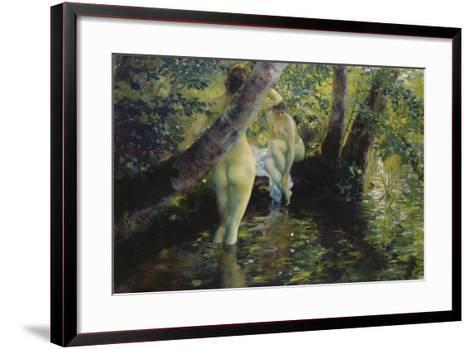 Girls Bathing-Ferdinand Max Bredt-Framed Art Print
