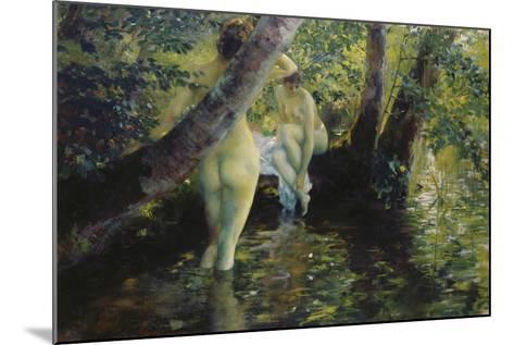 Girls Bathing-Ferdinand Max Bredt-Mounted Giclee Print