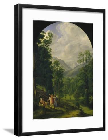 Landscape around Berchtesgaden, 1817-Ferdinand Olivier-Framed Art Print