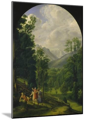 Landscape around Berchtesgaden, 1817-Ferdinand Olivier-Mounted Giclee Print