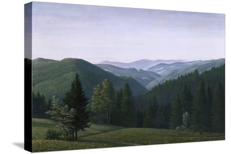 Vast Forest Landscape, 1937-Georg Schrimpf-Stretched Canvas Print