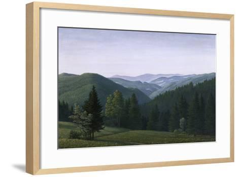 Vast Forest Landscape, 1937-Georg Schrimpf-Framed Art Print